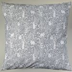 "16"" Cushion Cover in Grey Woodland Rabbit"